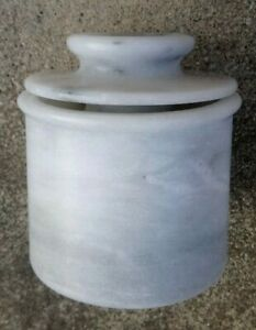 Crate Barrel French Kitchen Marble Butter Keeper - Excellent Condition