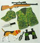 Hunter Rifle Hunting Dog Binoculars Camouflage Knife Jolee's 3D Stickers