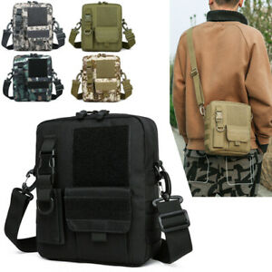 Small Tactical Sling Chest Pack Bag Molle Daypack Backpack IPad Mini Military US