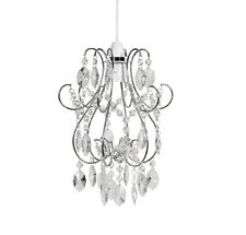 Modern Chrome with Glass Jewels Easy Fit Chandelier Pendant Ceiling Light Shade