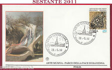 ITALIA FDC FILAGRANO ARTE MUSIVA PARCO DELLA PACE RAVENNA 1990 ANN. TORINO T110