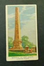 c1940 Hoadleys Trade Card Birth of a Nation #5  Capt Cook Landing Place Memorial