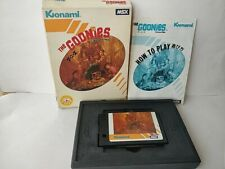The Goonies MSX MSX2 Game cartridge,Manual,Boxed set tested-b1108-