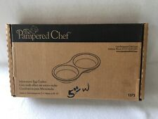New listing Pampered Chef Stoneware Nib 1372 Egg Microwave Oven