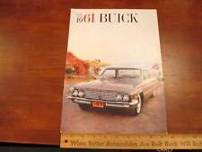 1961 Buick Car Dealer Sales Brochure Deluxe CDN