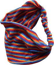 Comercio Justo Algodón Arcoiris hippy boho Elástico Pañuelo Para Pelo Gomas