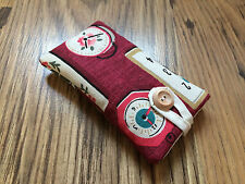 iPod Touch 5th / 6th Generation Fabric Padded Case - Cath Kidston Clocks