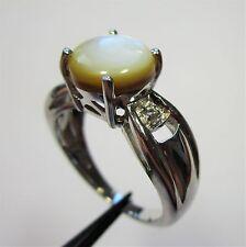 958 - Aparter Ring mit Perlmutt und weißer Topas aus 925 Silber - 2175