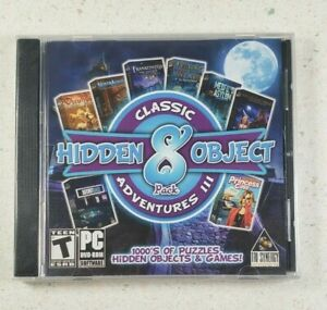 Hidden Object Classic Adventures III - 8 Pack PC DVD-ROM Game New Sealed