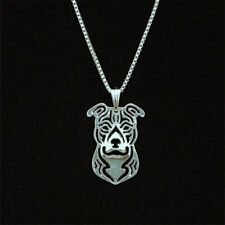 Pitbull 3D silver pendant American staffordshire terrier necklace