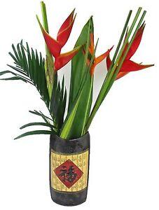 Large 36cm Stylish Oriental Traditional Ceramic Flower Vase Wide Mouth Vase