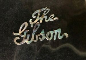 """""""The Gibson"""" Headstock  Abalone Logos Inlay- Vintage Design"""
