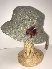 Hanna Hats Ireland Walking Hat Gray Speckles Made In Ireland Size Medium