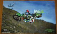 2019 Martin Davalos signed Monster Kawasaki KX 250F Supercross Motocross Poster