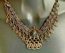 Antique Silver Filigree late Ottoman Headdress Piece Necklace Anatolian