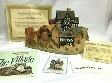 "Vintage David Winter ""The Village"" With Original Box And Coa 1981"