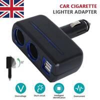 12V Car Cigarette Lighter Socket Adapter Double Plug Charger Splitter Dual USB
