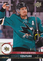 17-18 Upper Deck Logan Couture /100 UD Exclusives Sharks 2017