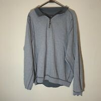 Tommy Bahama Reversible Quarter Zip Pullover Sweater Men's Size XL Gray