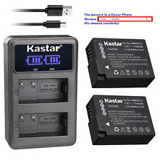 Kastar Battery LCD Dual Charger for Panasonic DMW-BLC12 Panasonic Lumix DMC-G85