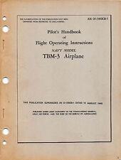 TBM-3 Avenger Pilot's Handbook Flight Operating Instructions Flight Manual -CD-