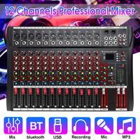 Studio Audio Mixing Console Phantom bluetooth Live 48V  8/12 Channel  W/Wifi USB