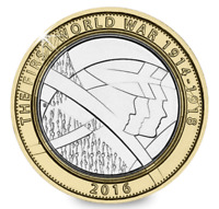 UNCIRCULATED 2016 First World War WWI WW1 ARMY £2 Two Pound Coin Royal Mint