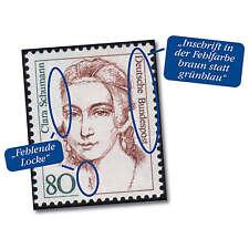 BRD Bund Nr. 1305 I postfrisch ** Plattenfehler Fehl.Locke 80 Pfg.Clara Schumann