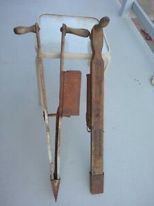 2  Antique Hand Held Corn Seed Planter   Primitive  Vintage Farm Tool