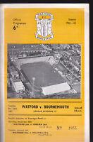 1961/62 WATFORD V BOURNEMOUTH 26-12-1961 Division 3