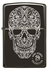 ZIPPO LIGHTER HIGH POLISHED BLACK SKULL (91143) GIFT BOXED - AU STOCK !