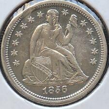 1856 Seated Liberty Dime 10c High Grade Philadelphia #12222