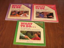 Set of 3 WHAT TO DO... PB Books -Manners, Mean Kids, Trouble at School Ages 5-13