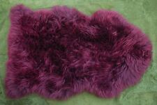 LARGE - MULBERRY (Purple Red)  - 100% REAL GENUINE AUSTRALIAN SHEEPSKIN RUG