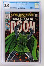 Marvel Super-Heroes #20 - Marvel 1969 CGC 8.0 Doctor Doom story. 1st App Valeria
