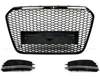Für Audi A6 4G C7 11-14 RS6 Look Wabengrill Kühlergrill Blende Diffusor Bumper _