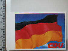 Pegatina Sticker cdu bandera de Alemania bandera (3745)