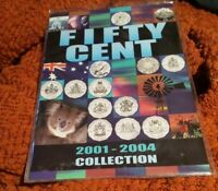 2001 - 2004 Fifty Cent Coin Collection of Federation Coins. USD $58.00