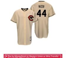 Cubs Cooperstown collection stitched jersey Anthony Rizzo cream size 48 xl new
