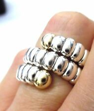 GORGEOUS John Hardy NEW 18kt/925 COIL RING Size 6 Slightly Flexible! GREAT RING!