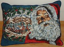 "Santa Claus Tapestry Christmas Throw Accent Pillow 13"" x 17"""