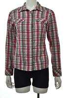 The North Face Womens Top Size XS Pink White Plaid Button Down Shirt Long Sleeve