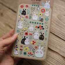 1 sheet rabbits scrapbooking Notebook calendar diary planner Decorative sticker