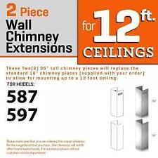 Zline Wall Chimney Extension up to 12 ft ceiling for models 597, 587 (2Pcext)