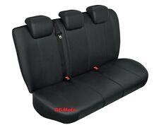 Black Eco Leather Tailored Rear Seat Covers Skoda Octavia Mk2 / II 2004 - 2013