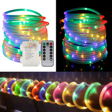 120 LED Fairy String Rope Lights Battery Operated Waterproof 39ft Remote Timer