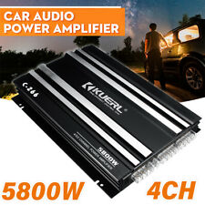 5800W 4 Channel Car Amplifier Stereo Audio Super Bass Power Subwoofer Amp Black