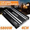 5800W 4 Channel Car Amplifier Stereo Audio Super Bass Power Subwoofer Amp Black