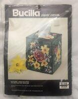 Bucilla Potpourri Tissue Box Cover Plastic Canvas Kit #6051 Sealed Vtg 1990 NOS