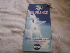 Vintage 1955 Air France Color map poster/brochure
